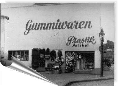 Das 1. Ladenlokal in Duisburg lag auf der Universitätsstraße.
