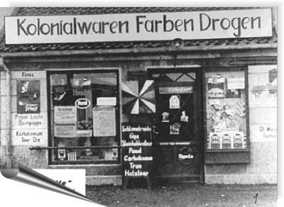 Das erste Geschäft vom alten Dreßler in Memel, 1920.